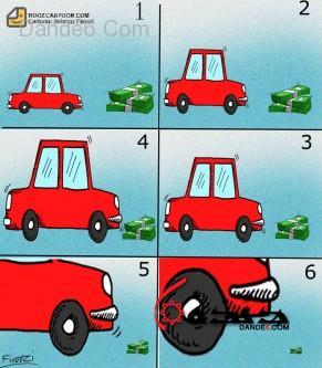 گرانی خودرو کاریکاتور