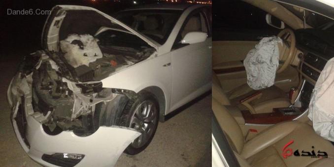 تصادف ام جی 550 و خاور