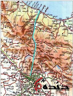 اتوبان تهران شمال نقشه