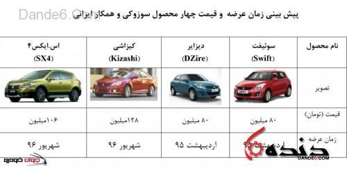 قیمت سوزوکی ایران خودرو زمان تحویل
