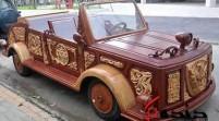 ماشین عروس چوبی/خلاقیت جوان شهرکردی