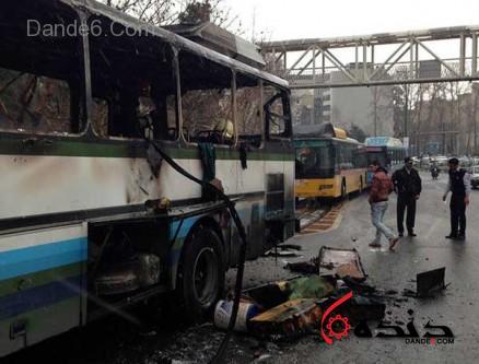 آتش سوزی اتوبوس-2