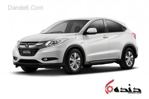 Honda-Vezel-Hybrid-white-front-three-quarter