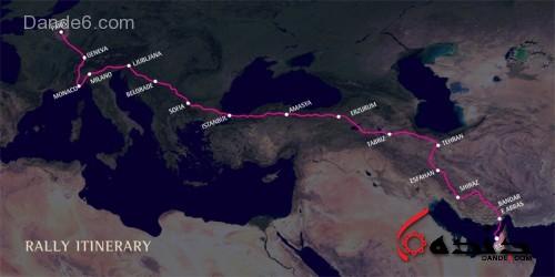مسیر رالی پاریس دوبی