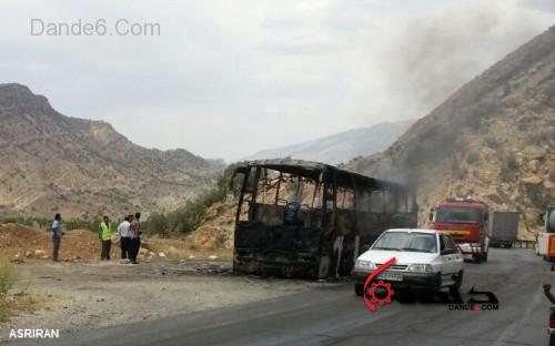 آتش سوی اتوبوس ولوو