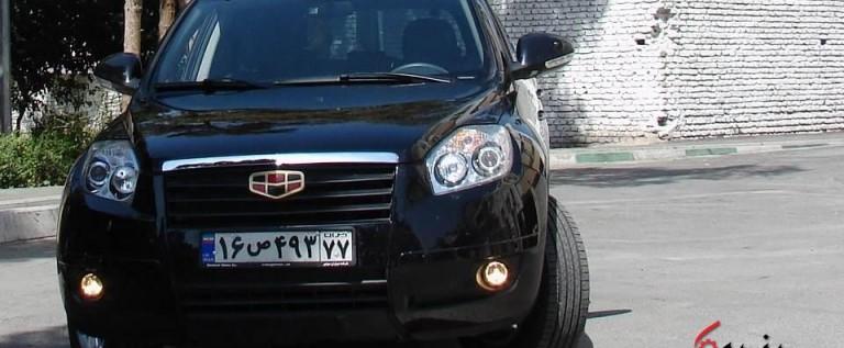 آزمایش رانندگی با جیلی X7 در تهران